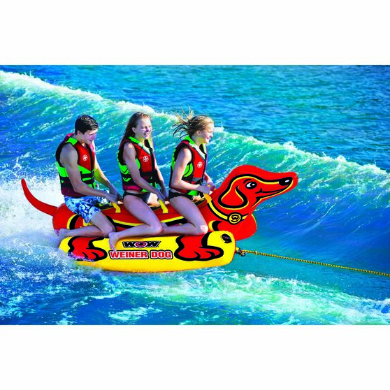 Wow Weiner Dog Tow Tube 3 Person, , bcf_hi-res