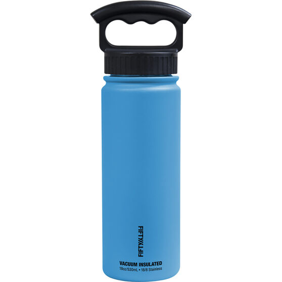 Fifty Fifty Insulated Drink Bottle 530ml Blue 530ml, Blue, bcf_hi-res