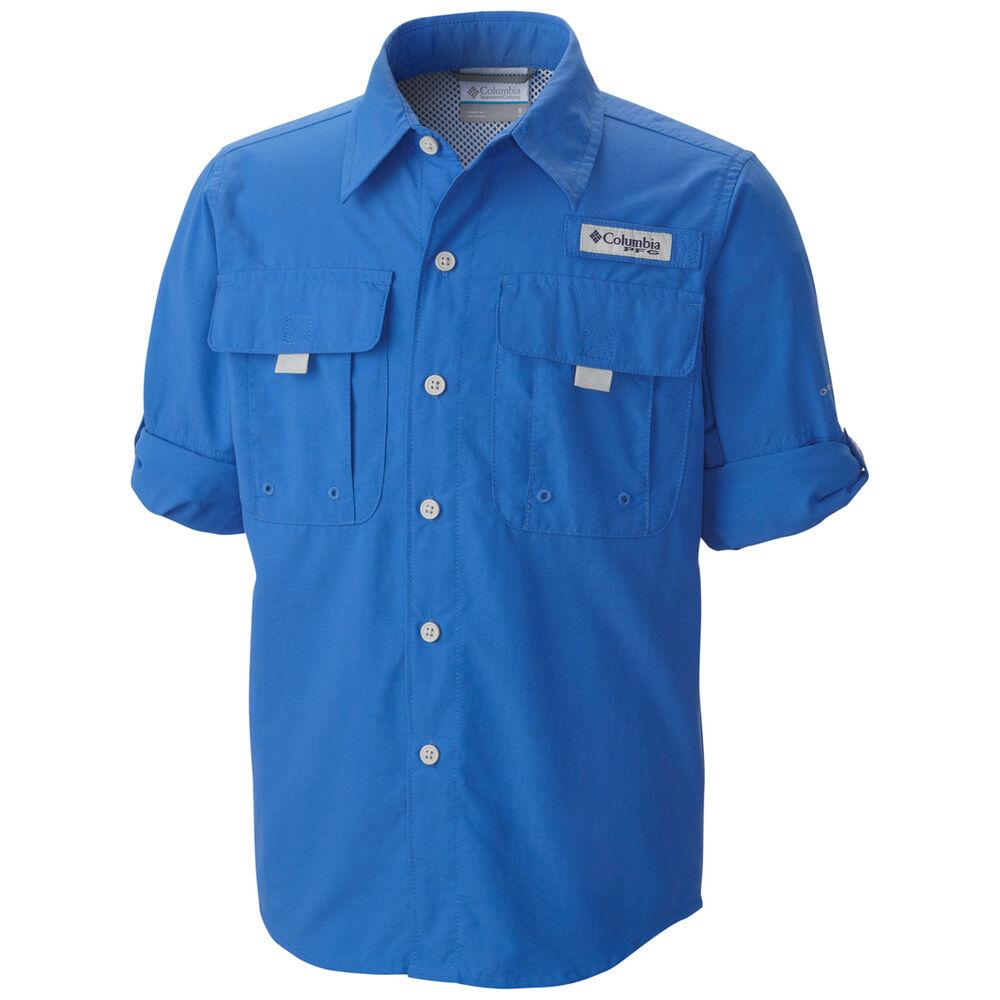 dda1696abd2 Columbia Men's Bahama II Long Sleeve Fishing Shirt Vivid Blue S Men's,  Vivid Blue,