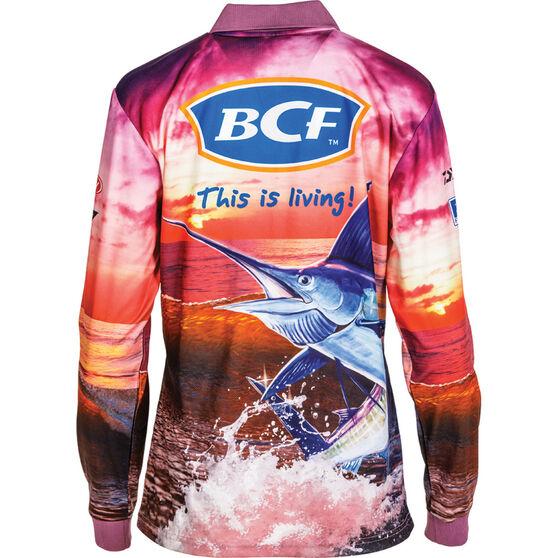 BCF Women's Marlin Sublimated Polo Purple 8, Purple, bcf_hi-res