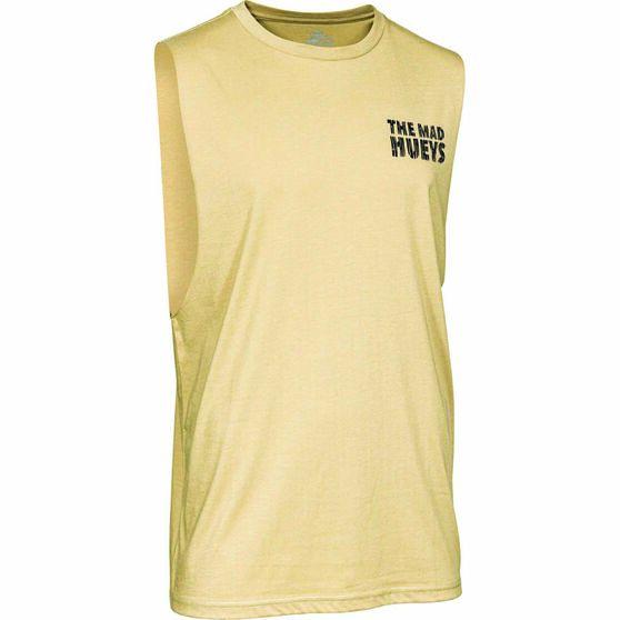 The Mad Hueys Men's Jawsome UV Muscle Tank, Tan, bcf_hi-res