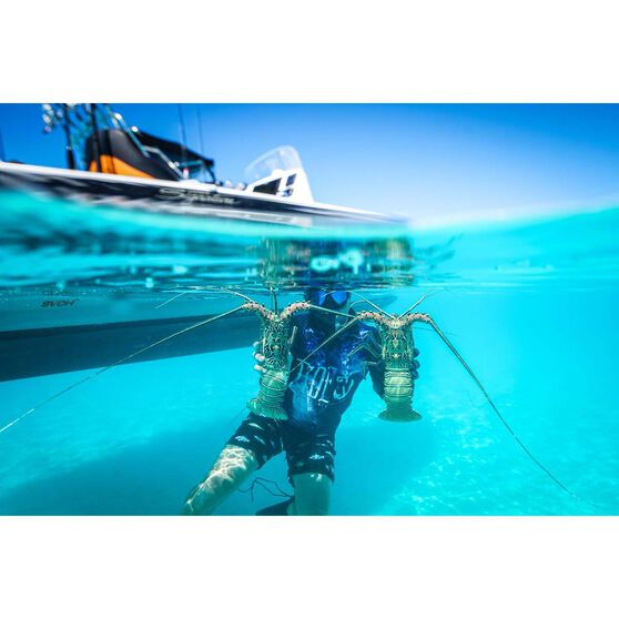 Tide Apparel Men's Jellyfish Sublimated Polo, Black / Navy, bcf_hi-res