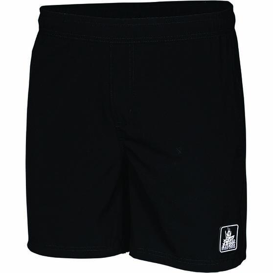 The Mad Hueys Men's Hybrid Volley Short, Black, bcf_hi-res