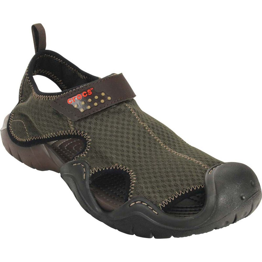 174b4fd0a4 Crocs Men's Swiftwater Sandal Espresso US 8, Espresso, bcf_hi-res