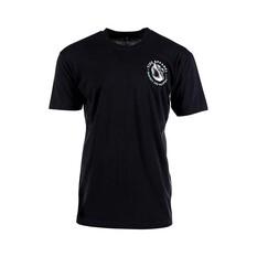 Tide Apparel Mens Row V2 Short Sleeve Tee Black S, Black, bcf_hi-res