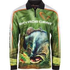 Savage Men's Murray Cod Sublimated Polo Green M, Green, bcf_hi-res