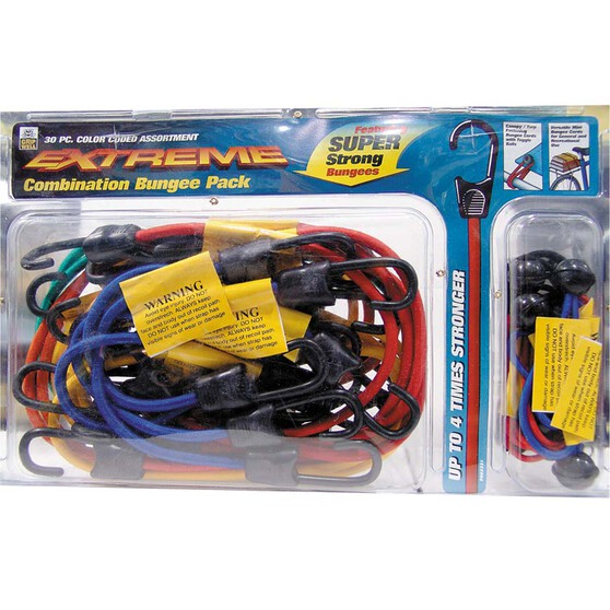 Gripwell Extreme Bungee Cord Kit - 30 Pack, , bcf_hi-res