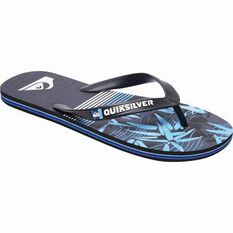 Quiksilver Men's Molokai Zen Thongs Black / Blue 8 Men's, Black / Blue, bcf_hi-res