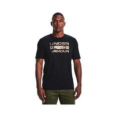 Under Armour Men's Stacked Logo Fill Tee Black / Barren Camo S, Black / Barren Camo, bcf_hi-res