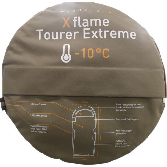 Wanderer XFlame Tourer Extreme -10 Hooded Sleeping Bag, , bcf_hi-res