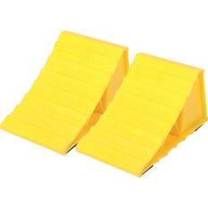 Wanderer Plastic Wheel Chocks 2 Pack, , bcf_hi-res