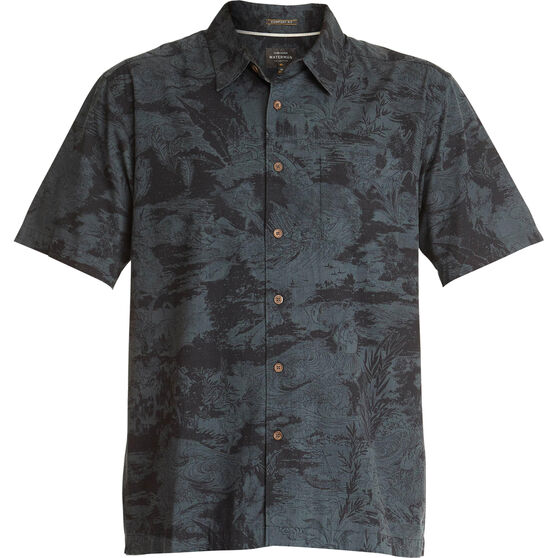Quiksilver Men's Japanese Oceans Shirt, Black, bcf_hi-res