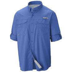 Columbia Men's Blood and Guts Long Sleeve Shirt Vivid Blue S, Vivid Blue, bcf_hi-res