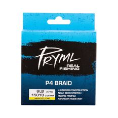 Pryml P4 Braid Line 150yds Yellow 6lb, Yellow, bcf_hi-res