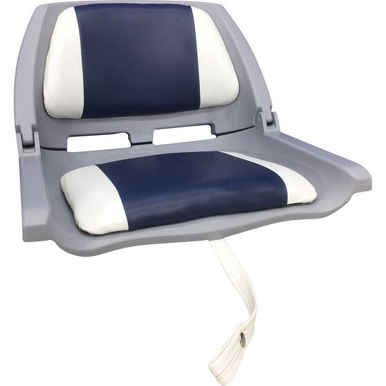Bowline Padded Folding Tinnie Seat Blue, Blue, bcf_hi-res