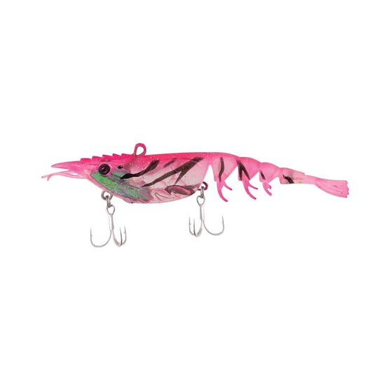 Berkley Shimma Shrimp Soft Vibe Lure 100mm Pink Shrimp, Pink Shrimp, bcf_hi-res