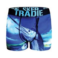 Tradie Men's Marlin Storm Trunks, Print, bcf_hi-res