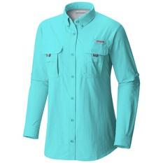Columbia Women's Bahama II Long Sleeve Shirt Dolphin XS, Dolphin, bcf_hi-res