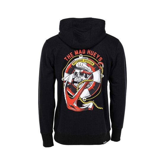 The Mad Hueys Men's Sinking Captain Pullover Hoodie, Black, bcf_hi-res