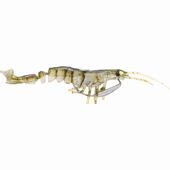 Savage 3D Shrimp Soft Plastic Lure 3.5in Olive, Olive, bcf_hi-res