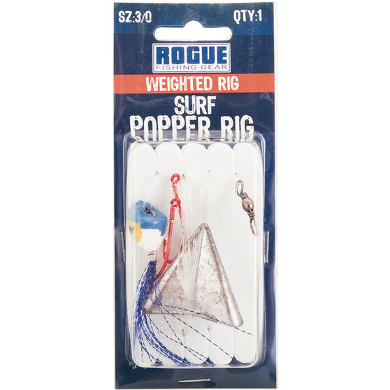 Rogue Weighted Surf Popper Paternoster Rig, , bcf_hi-res