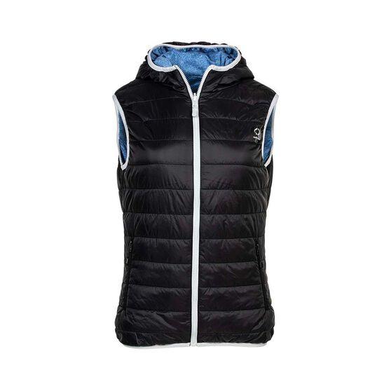 OUTRAK Reversible Puffer Vest - Womens, Black/Blue, 8, , bcf_hi-res