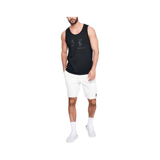 Under Armour Mens Sportstyle Logo Tank, Black, bcf_hi-res