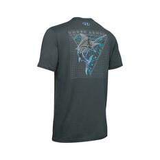 Under Armour Men's Marlin Skel-matic Tee Grey / Blue S, Grey / Blue, bcf_hi-res