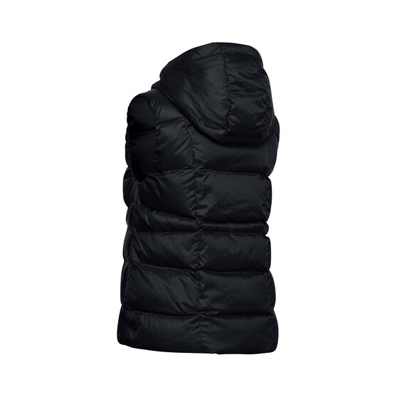 Under Armour Women's Hooded Down Vest, Black / Jet Gray, bcf_hi-res
