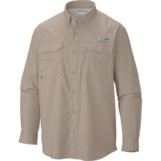 Columbia Men's Blood and Guts Long Sleeve Shirt, Fossil, bcf_hi-res