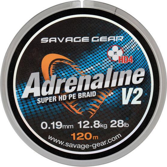 Savage Hd4 Adrenaline V2 Gunsmoke Braid Line 120m, , bcf_hi-res