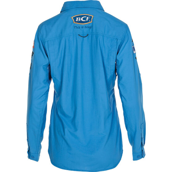 BCF Women's Long Sleeve Fishing Shirt Azure 8, Azure, bcf_hi-res