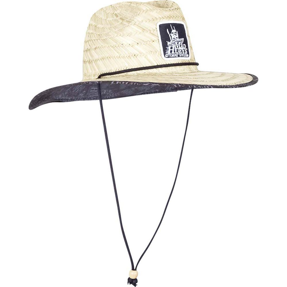 9d70c61044c The Mad Hueys Men s Patch Logo Straw Hat