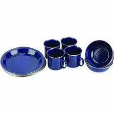 Wanderer 12 Piece Enamel Dinner Set, , bcf_hi-res