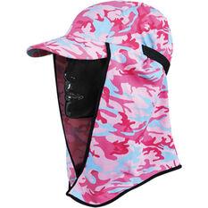 Sunprotection Australia Kids' Flippa Cap Hat Pink / Camo OSFM, Pink / Camo, bcf_hi-res