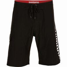 Shimano Men's Corporate Boardshorts Black 32, Black, bcf_hi-res