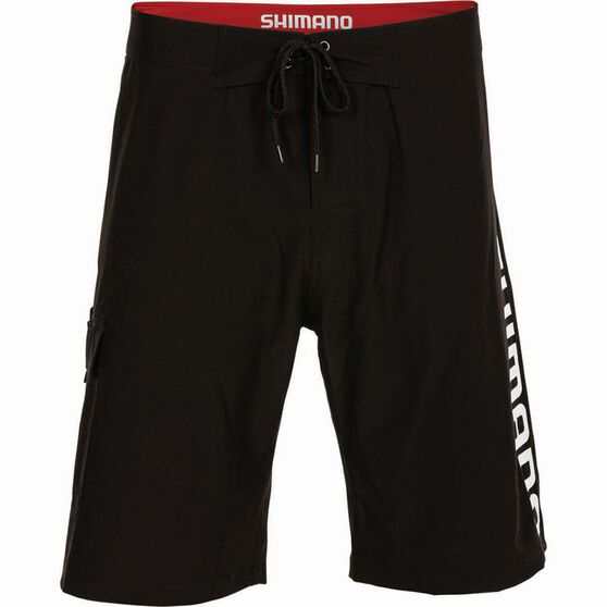 Shimano Men's Corporate Boardshorts, Black, bcf_hi-res