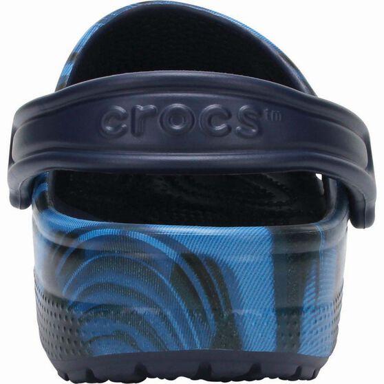 Crocs Unisex Classic Graphic Sandal, Blue Jean, bcf_hi-res