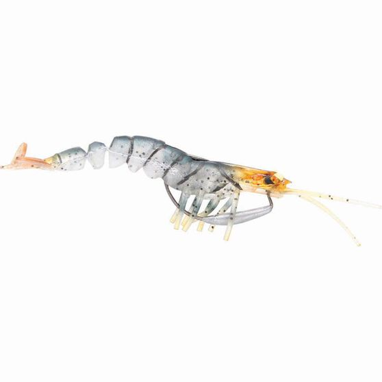 Savage 3D Shrimp Soft Plastic Lure 3.5in Blue Tan, Blue Tan, bcf_hi-res