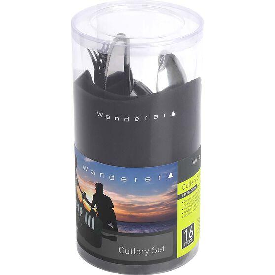 Wanderer Cylinder Cutlery Set 16 Piece, , bcf_hi-res
