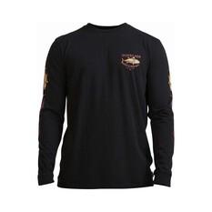 Quiksilver Men's Empty Shoreline Long Sleeve Tee Black M, Black, bcf_hi-res