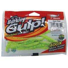 Berkley Gulp Minnow Soft Plastic Lure 3in, Chartreuse, bcf_hi-res