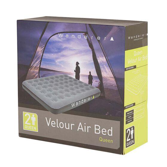 Velour Air Bed Queen, , bcf_hi-res