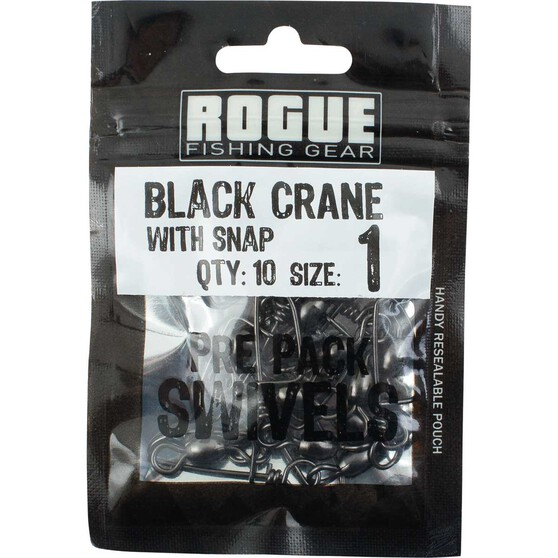 Rogue Black Crane Coastlock Swivel 10 Pack, , bcf_hi-res