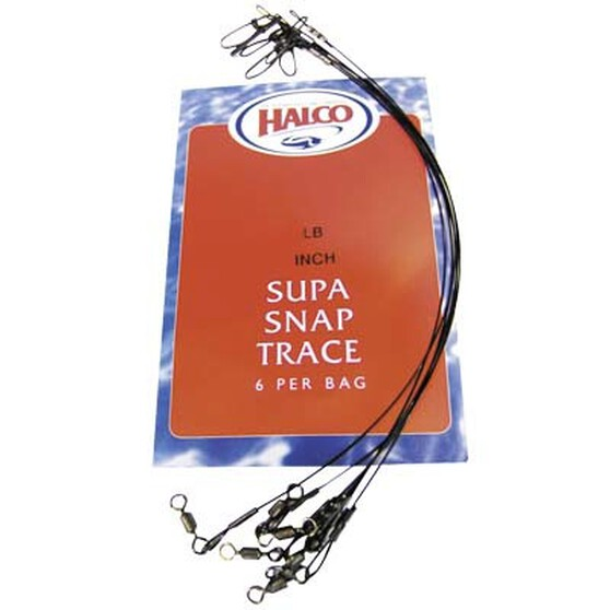 Halco Supa Snap Trace Wire, Black, bcf_hi-res