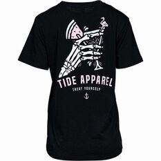 Tide Apparel Women's Treat Tee Black 8, Black, bcf_hi-res