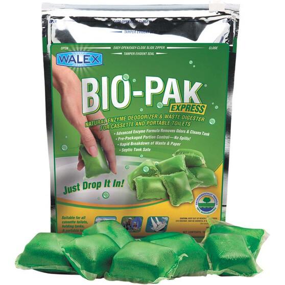 Walex Bio-Pak Toilet Additive Sachets Green Citrus 15 Pack, , bcf_hi-res