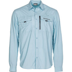 Daiwa Men's Long Sleeve Fishing Shirt Blue S, Blue, bcf_hi-res