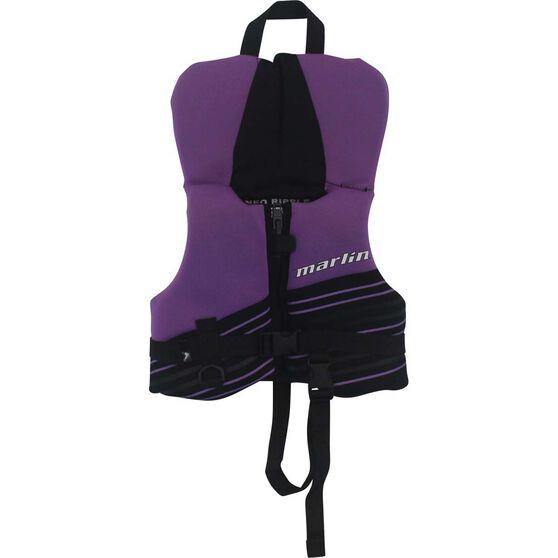 Marlin Australia Toddler Ripple Neo Level 50S PFD Purple, Purple, bcf_hi-res