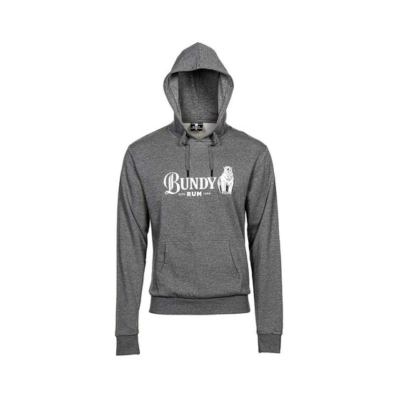 Bundaberg Rum Men's Hooded Fleece Sweater, Grey Marle, bcf_hi-res